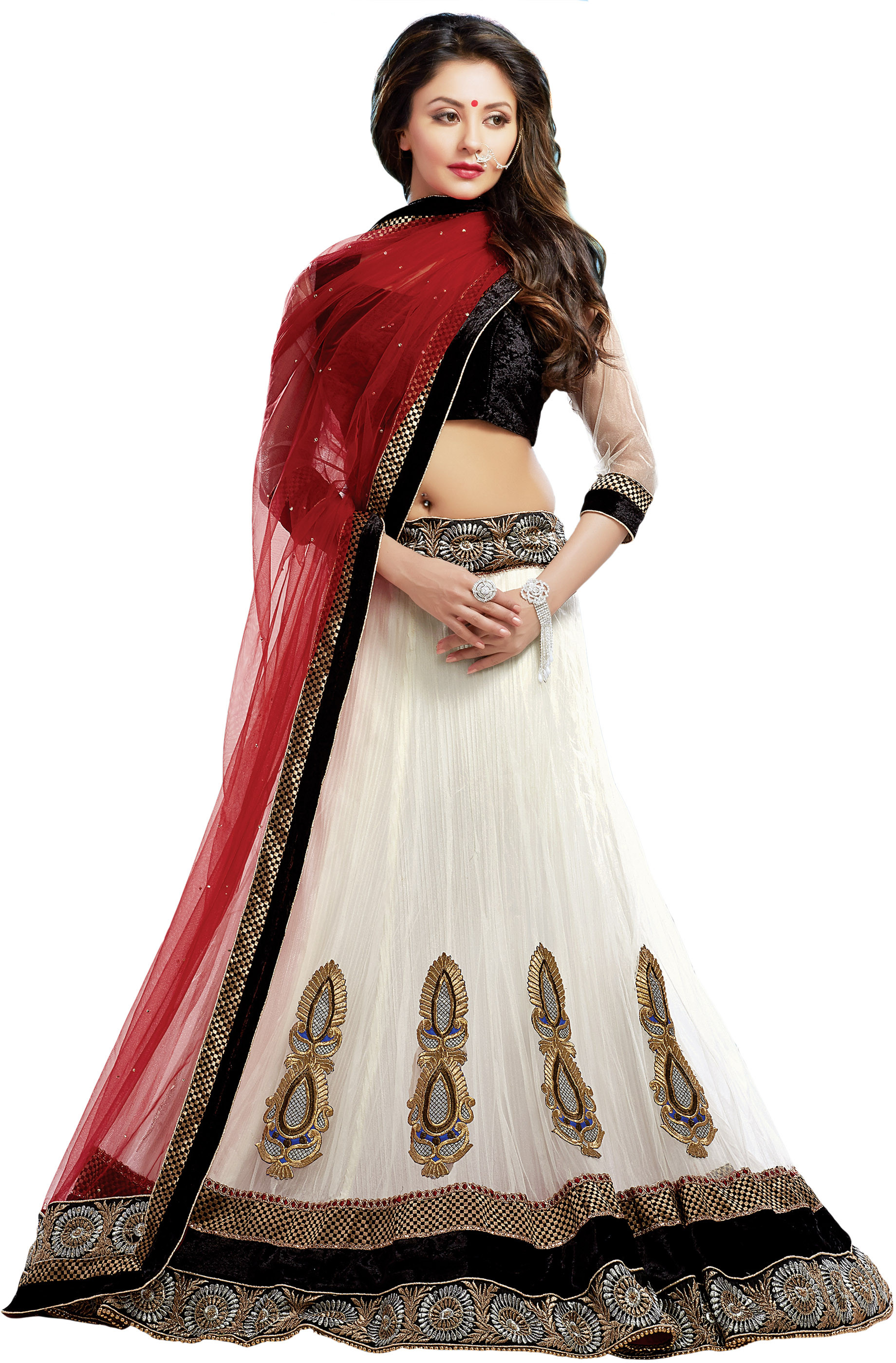 Radhe Solid Womenu0026#39;s Lehenga Choli - Buy White Radhe Solid ...