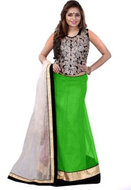 edeal online Embroidered Women's, Girl's Lehenga, Choli and Dupatta Set
