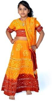 Little India Self Design Girl's Lehenga Choli - LCHEYPJ3RGZ5DSZB