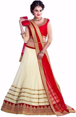 Aaryan Self Design Women's Lehenga, Choli and Dupatta Set
