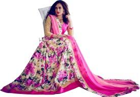 Sitaram Brocade, Art Silk, Organza Embellished, Embroidered, Floral Print Semi-stitched Salwar Suit Dupatta Material Semi-stitched