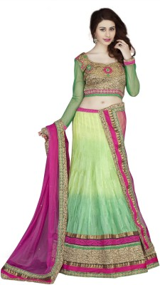 Panth Design Self Design, Embroidered Women's Lehenga, Choli and Dupatta Set