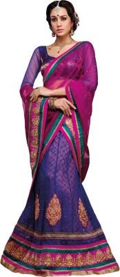 Manvar Enterprise Embroidered Women's Lehenga, Choli and Dupatta Set