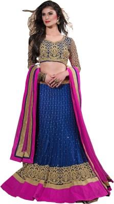 Aarnas Fashion Embroidered, Embellished Women's Lehenga, Choli and Dupatta Set