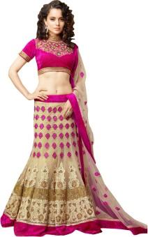Nanda Silk Mills Self Design Women Lehenga Choli