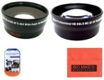 Big Mike s 58Mm 0.45X Wide Angle Lens + 2X Telephoto Lens For Canon Digital Eos Rebel
