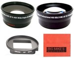 Big Mike s 52Mm 2X Telephoto Lens + 52Mm 0.45X Wide Angle Lens With Macro For Gopro Camera
