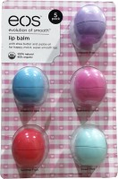 Eos Lip Balm Set Of 5 Strawberry Sorbet, Passion Fruit, Sweet Mint, Summer Fruit, Blueberry Acai (35 G)