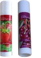 Avon Natural Lip Balm (Set Of 2 Of 4.5 G Each) Strawberry, Cherry (9 G)