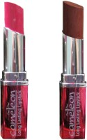 Cameleon Long Lasting Lipstick Combo Pack In Deep Cherry Natural 7.6 G (Deep Cherry, Natural)