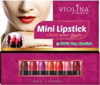 Violina Lipstick Mini - Pack Of 7 - Combo Of 2 Packs 14 G (7 Shades)