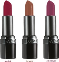Avon Ultra Color Matte Lipstick (set Of 3 Of 3.8 G Each) - Merlot/ Brown/ Amethyst 11.4 G (matte Merlot, Matte Brown, Matte Amethyst)