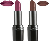 Avon Ultra Color Matte Shades Lipstick (set Of 2 Of 3.8 G Each) 7.6 G (matte Amethyst, Matte Chocolate)