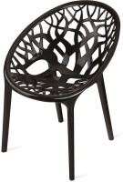 Nilkamal Crystal Plastic Living Room Chair (Finish Color - Black)