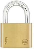 Yale Essential Series Solid Brass 60mm YE1/60/132/1 Padlock (Gold)