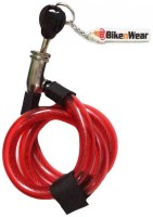 ERCO Multi-Purpose Spiral Transparent Red Cable Lock (Transparent Red)