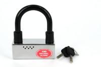 Lock Alarm U-2503 U Lock (Black & Red)