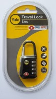 YALE TRAVEL PADLOCK SERIES Combination Lock (Black)
