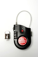 Lock Alarm 2770 Combination Lock (Black & Red)