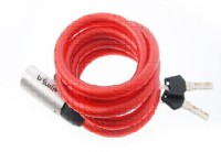 Btwin SP 5 Key Cable Lock (Red)