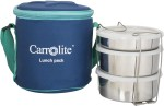 Carrolite Lunch Boxes Executive Round Blue