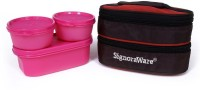 Signoraware 545 Healthy Lunch Box (With Bag) 3 Containers Lunch Box (900 Ml)