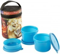 Signoraware Jazz Executive - Blue (Medium-1080ml) 3 Containers Lunch Box (1080 Ml)