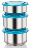 NanoNine Tiffiny Stainless Steel Double Wall Insulated Meal Pack 3 Containers Lunch Box (350 Ml)