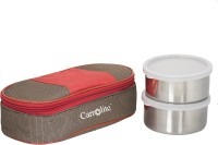 Carrolite Matee Finish Red And Brown (400 Ml) 2 Containers Lunch Box (400 Ml)