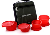 Signoraware Fresh Lunch Box (With Bag)-549 4 Containers Lunch Box (820 Ml)