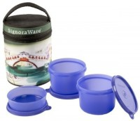 Signoraware Venice Executive -Violet (Medium-1080ml) 3 Containers Lunch Box (1080 Ml)
