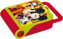Disney Mickey Plastic Lunch Boxes - Set Of 1, Red, Green