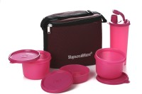 Signoraware 521 Combo Executive (Medium) With Bag 4 Containers Lunch Box (1580 Ml)