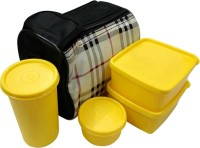 Topware Topware Microwave Safe Container Set-4 Check 4 Containers Lunch Box (1000 Ml)