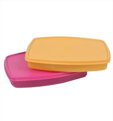 Sunvi TUPPERWARE CLASSIC SLIM LUNCH BOX SET OF 2 2 Containers Lunch Box (300 Ml)