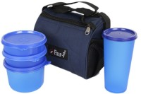 Four-F Ff1850 Bag With 4 Container Set Blue 4 Containers Lunch Box (550 Ml)