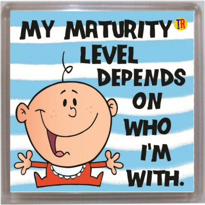 THOUGHTROAD MATURITY LEVEL Door Magnet, Fridge Magnet Image
