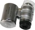 AdraxX Mini 60X Pocket Magnifier - Silver