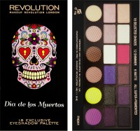 Make Up Revolution London Dia De Los Muertos 18 Exclusive Eyeshadow Palette (Pack Of 18)