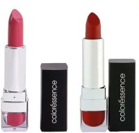 Coloressence Mesmerising Lip Color 4 G Brick Red - 67 And Mesmerising Lip Color Passionate Pink-7 (Pack Of 2)
