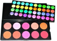 Beauty Of Life Professional 50 Shades Makeup Palette.(40 Matte,Shimmer Eyeshadows,10 Blush) (Pack Of 1)