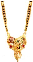 Beingwomen Ethnic Gold Shubh Meenakari Alloy Mangalsutra