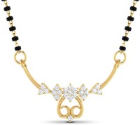 JacknJewel 0.22 Carat Diamond 18 Kt Gold Yellow Gold Mangalsutra