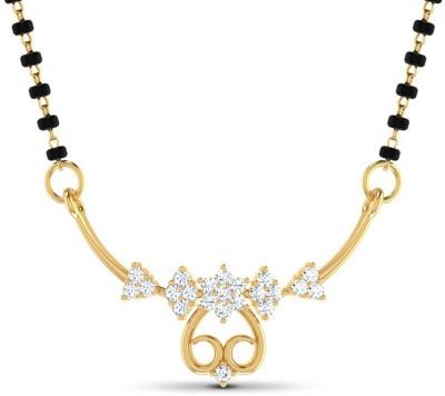 JacknJewel 0.22 Carat Diamond 18 Kt Gold Yellow Gold Mangalsutra