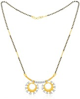 Jashn The Divyashree With 22 Kt Gold Plated Made With 925 Sterling Silver Mangalsutra