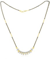 Jashn The Apsara Sparkling With 22 Kt Gold Plated Made With 925 Sterling Silver Mangalsutra