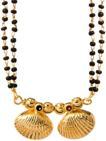 Voylla Double Chain In Precise Drop Design Alloy Mangalsutra
