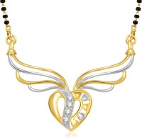 VK Jewels Sparkling Heart Alloy Mangalsutra