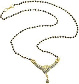 Aakshi Leaf With Glames Of Glitters Alloy Mangalsutra