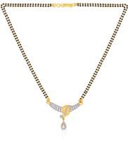 Malabar Gold And Diamonds Mhaaaaaasagp Cubic Zirconia Yellow Gold Mangalsutra Tanmaniya